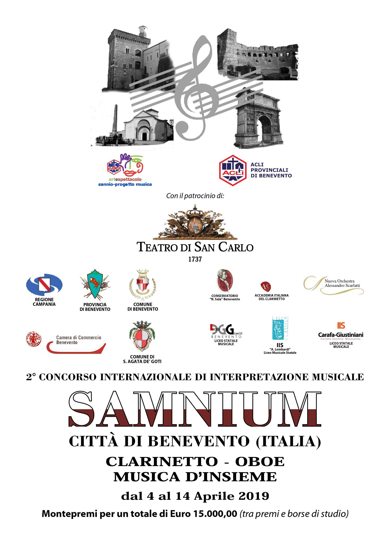 SAMNIUM CITTA' DI BENEVENTO CONCORSO INTERNAZIONALE DI INTERPRETAZIONE MUSICALE