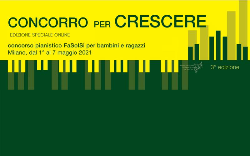 Il concorso pianistico online dell'Associazione FaSolSi dai 6 ai 20 anni