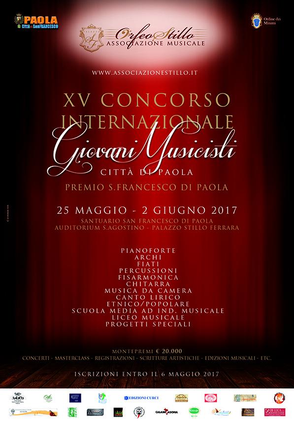 XV CONCORSO INTERNAZIONALE GIOVANI- MUSICISTI CITTA' DI PAOLA