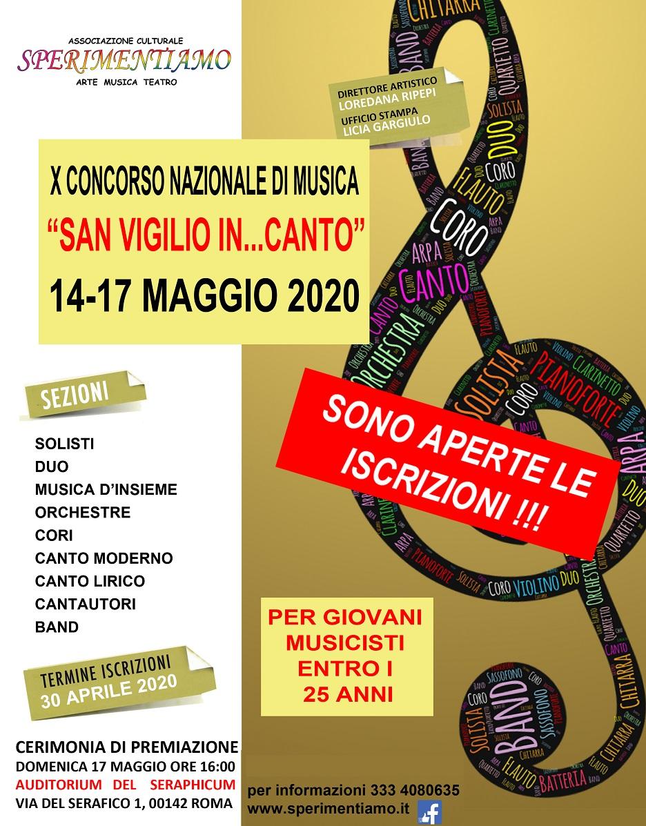 """Concorso Nazionale di Musica """"San Vigilio in...canto"""""""
