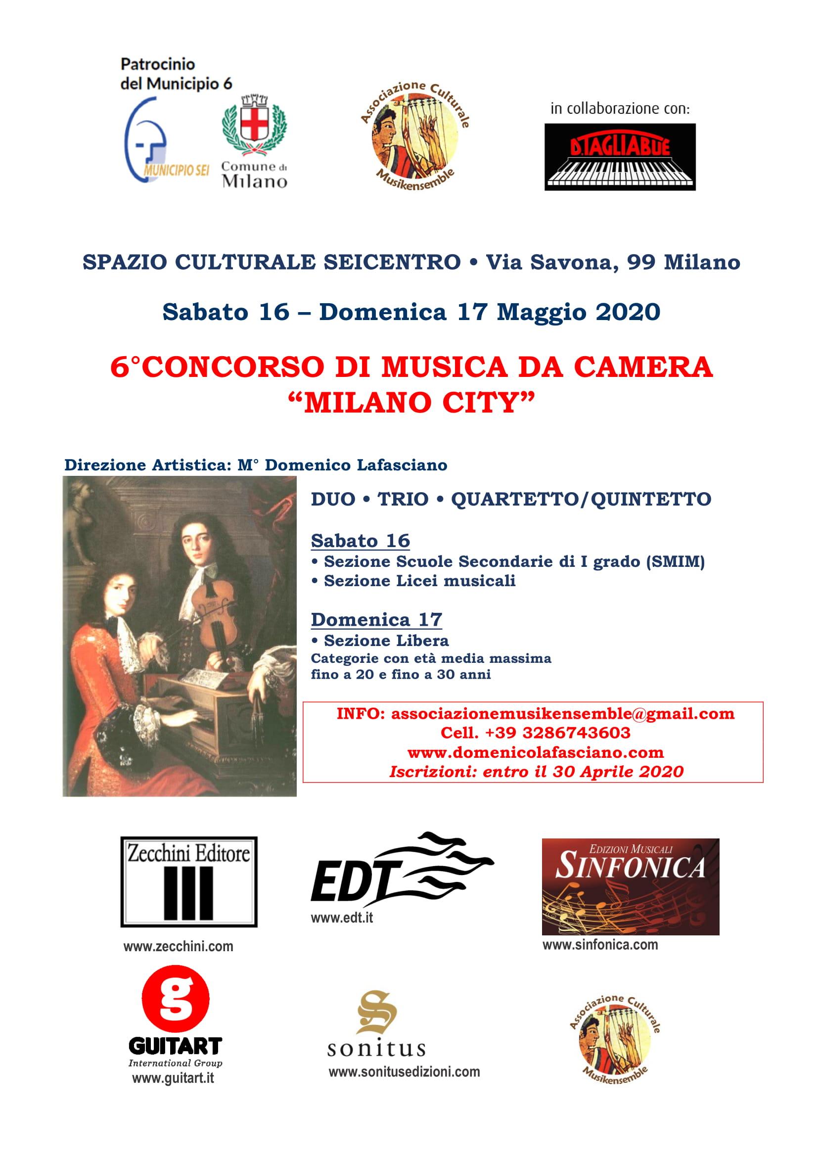 concorso di musica da camera per i giovani a milano