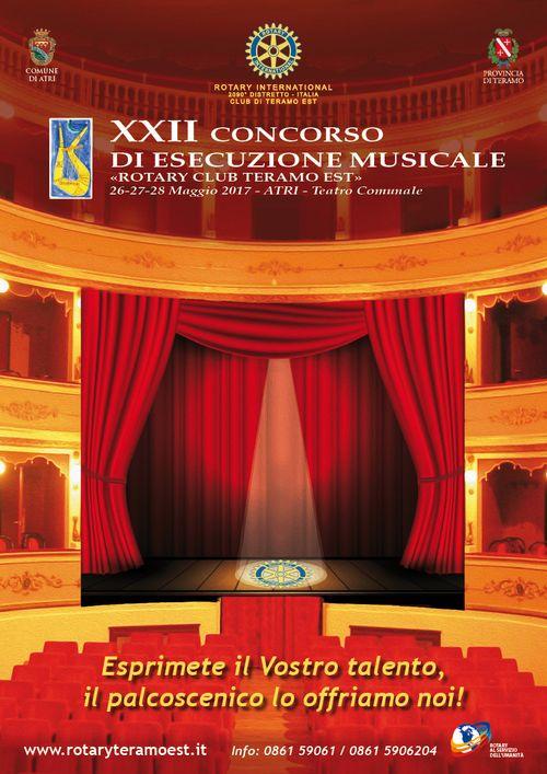 "XXII CONCORSO DI ESECUZIONE MUSICALE 2017 ""ROTARY CLUB TERAMO EST"""
