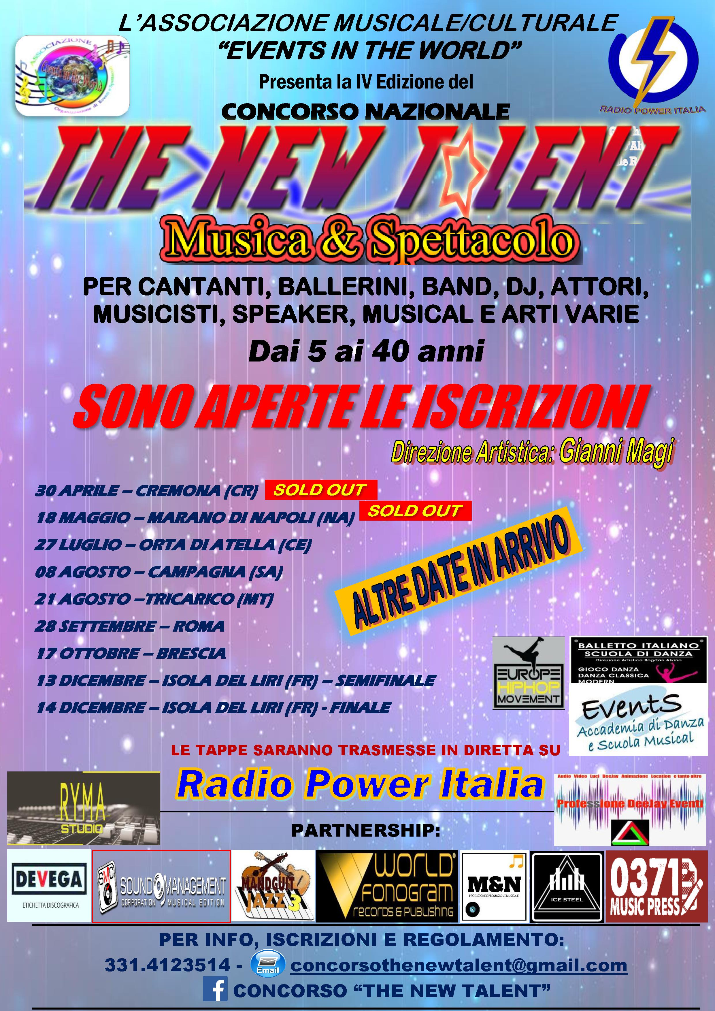 CONCORSO THE NEW TALENT