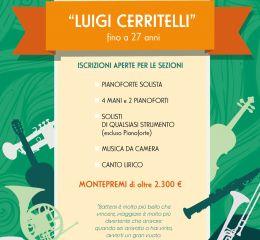 """13° CONCORSO INTERNAZIONALE MUSICALE """"LUIGI CERRITELLI"""" fino a 27 anni"""