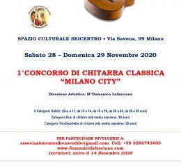 """1°CONCORSO DI CHITARRA CLASSICA """"MILANO CITY"""""""