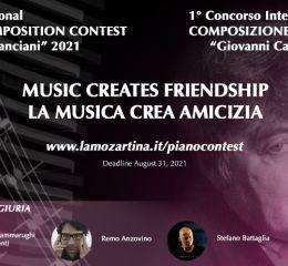 """Concorso internazionale di composizione pianistica """"La musica crea amicizia"""""""