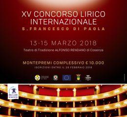 Locandina Concorso lirico internazionale S.Francesco di Paola
