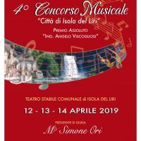 """IV° CONCORSO MUSICALE """"Città di Isola Del Liri"""" con premio assoluto """"Ing.Angelo Viscogliosi"""""""