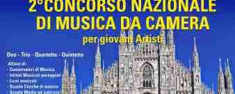 Locandina 2° Concorso Nazionale di Musica da Camera per giovani Artisti